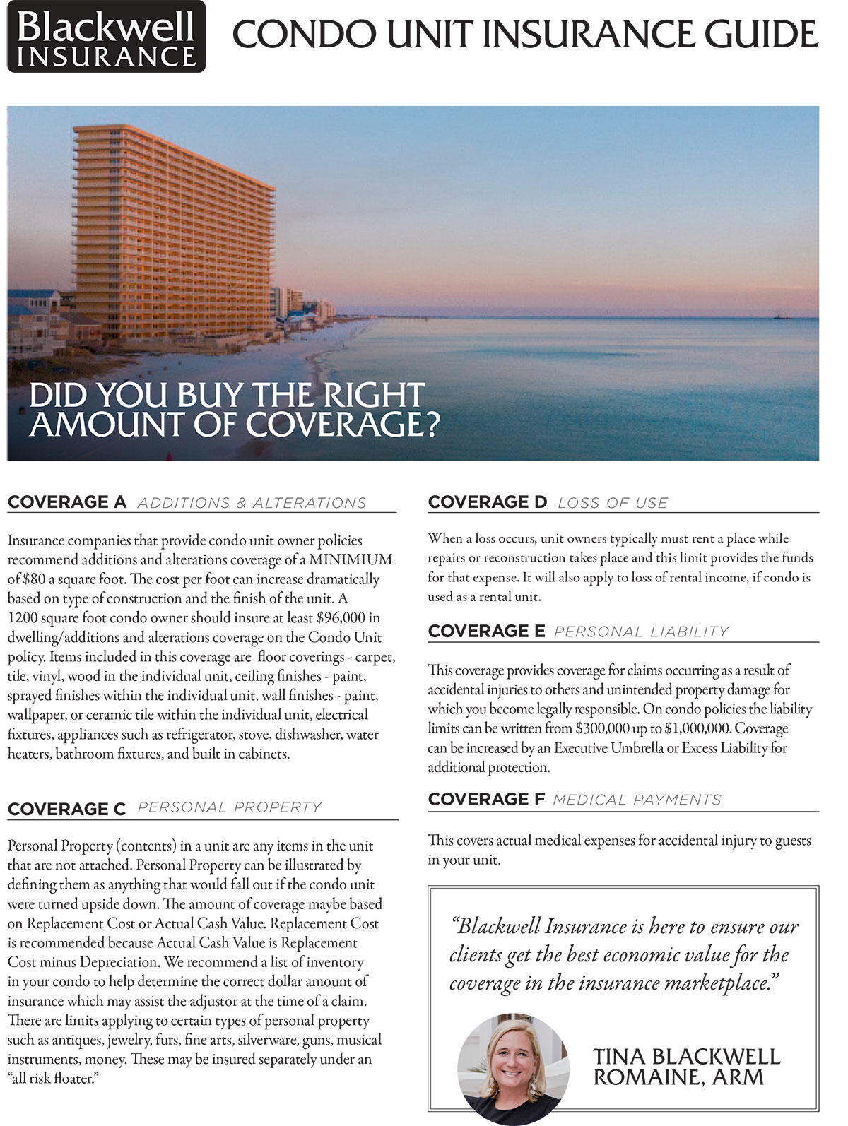 Panama City Condo Owners Insurance Guide